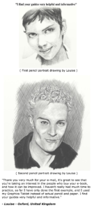 Louise's review of realistic pencil portrait mastery