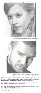 Nicolai's review of realistic pencil portrait mastery