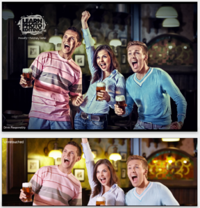 How to learn photo editing commercial ad example