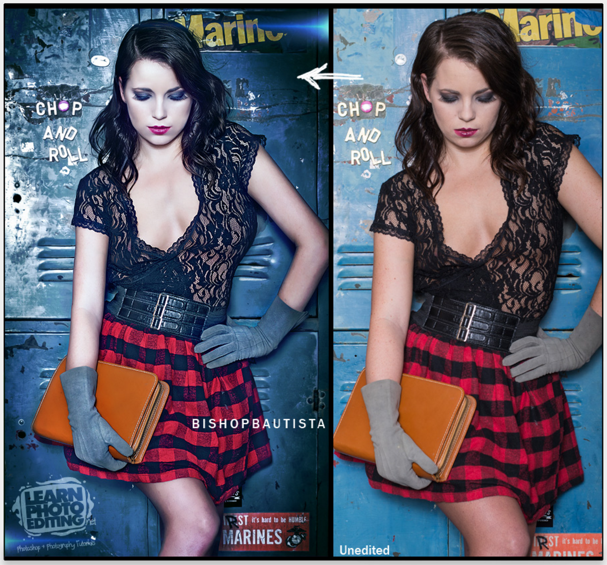 How to learn photo editing fashion ad example