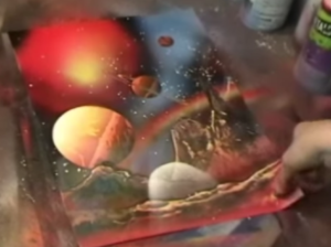 example painting alien world