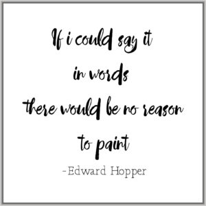 Edward Hopper Painting Quote