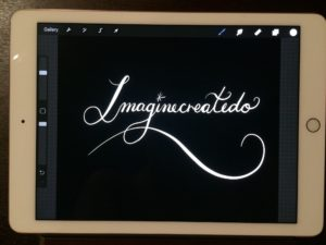 New logo for Imaginecreatedo made with the Apple Pencil for IPad Pro